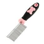 Расческа с частыми зубьями, нескользящая резиновая ручка, микс цветов