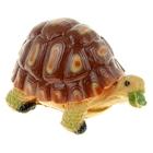 """Садовая фигура """"Черепаха"""" средняя, коричневая"""