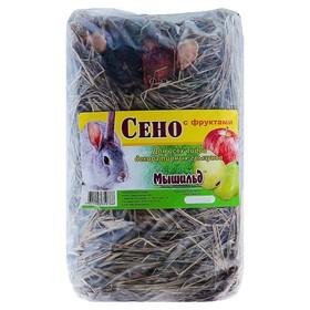 Сено луговое прессованное с фруктами 'Мышильд', 500 г Ош
