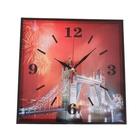 """Настенные часы-картина в раме """"Серия Эпатаж. Салют над Тауэрским мостом"""", 30 × 30 см"""