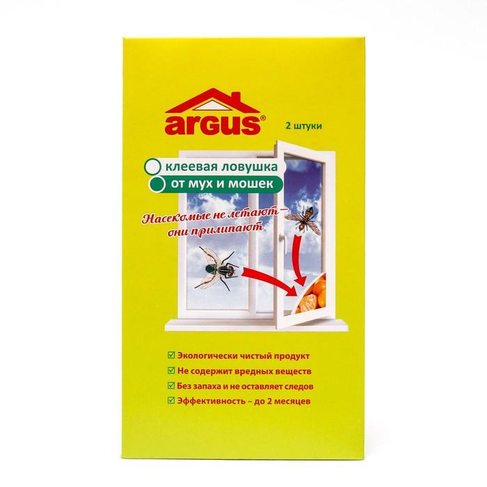 Клеевая оконная ловушка уголок ARGUS для мух 2 шт