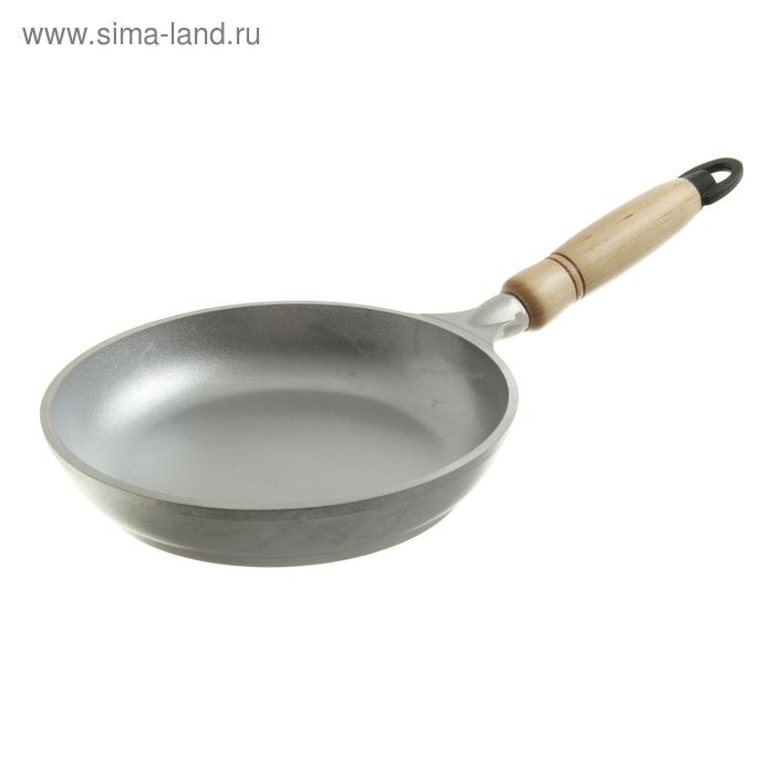 Сковорода 18 см с деревянной ручкой