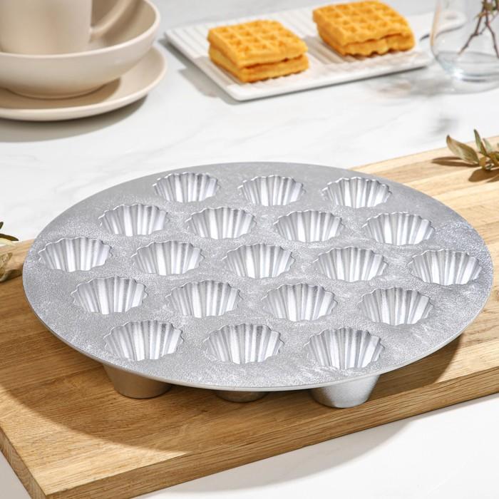 Форма для кексов, 19 ячеек: верх d=5 см, низ d=2,5 см, высота 2,8 см