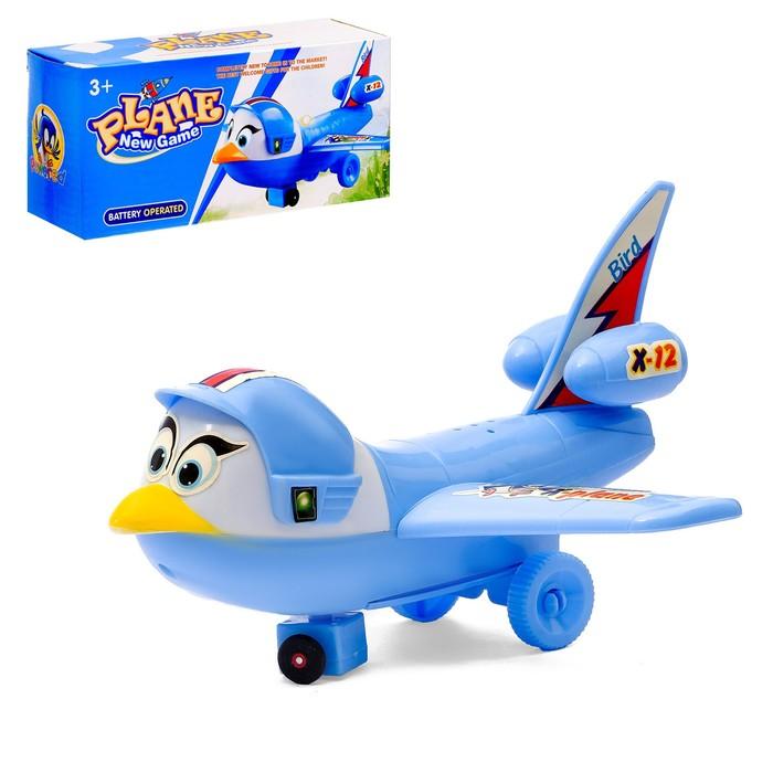 """Самолёт """"Птичка"""", световые и звуковые эффекты, работает от батареек"""
