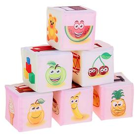 Набор мягких кубиков «Предметы»