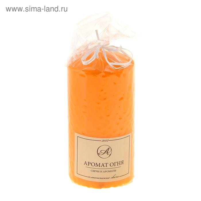 Свеча классическая 5*10 см, оранжевая, лакированная