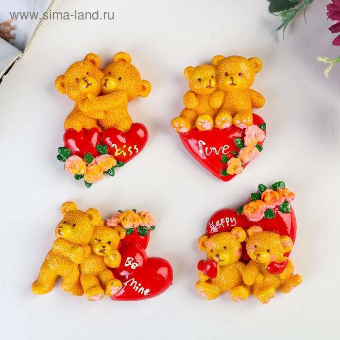 """Магнит """"Мишки с сердцем"""", МИКС"""