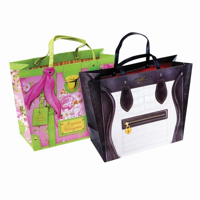 Пакеты-сумки L МИКС