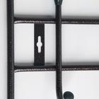 Вешалка настенная с полкой на 5 крючков, 41×25×74,5 см, цвет медный антик - фото 4641984