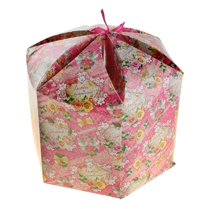 """Коробка подарочная """"Любви и счастья"""""""