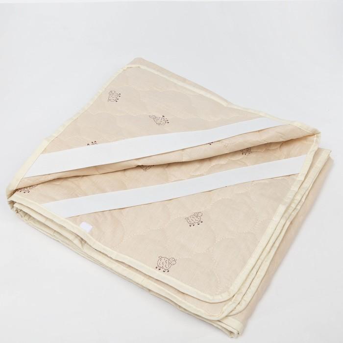 "Наматрасник Адамас ""Овечья шерсть"", размер 90х200 см, поликоттон, пакет"