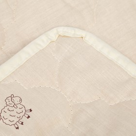 "Наматрасник Адамас ""Овечья шерсть"", размер 90х200 см, поликоттон, пакет - фото 63251"