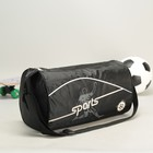 Bag sports Department with zipper, long strap, color black