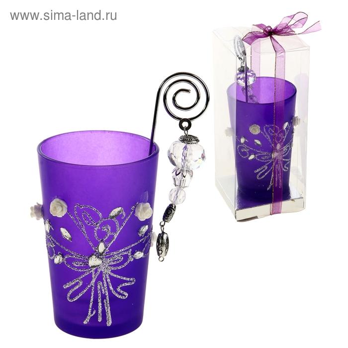 """Подсвечник с держателем для свечи """"Фантазия из роз"""""""