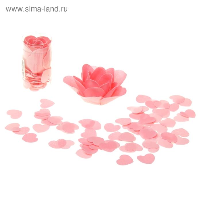"""Мыльный серпантин """"Сердца с розой"""", цвета МИКС"""