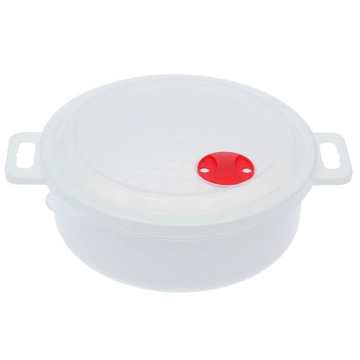 """Контейнер для холодильника и СВЧ с крышкой 1,5 л """"Традиция"""", круглый"""