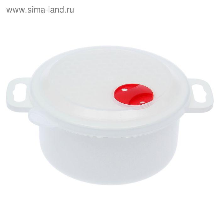 """Контейнер для холодильника и СВЧ с крышкой 1 л """"Традиция"""", круглый"""