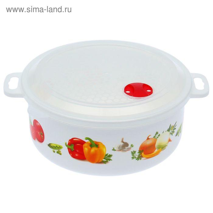 Ёмкость для холодильника и микроволновой печи 3 л, с декором