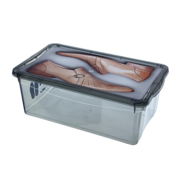 """Короб для хранения обуви 33х19х12 см """"Для обуви"""" прямоугольный, цвет МИКС"""