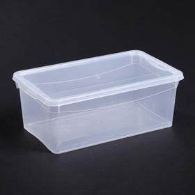 """Ящик для хранения, прямоугольный 5 л """"Кристалл"""""""