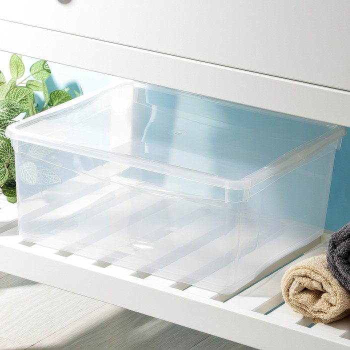 """Ящик для хранения, прямоугольный 18 л """"Кристалл"""""""