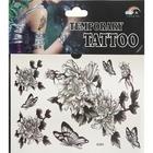 "Татуировка на тело ""Чёрно-белые рисунки"", МИКС"