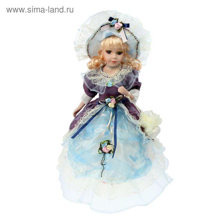 """Кукла-зонтик коллекционная """"Эсмеральда в голубом платье"""" крутящаяся, музыкальная"""