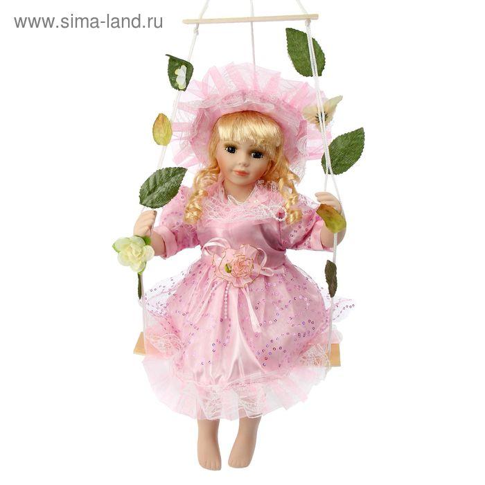 """Кукла коллекционная """"Мария в розовом на качелях"""""""