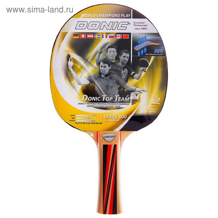 """Ракетка для настольного тенниса """"Donic TOP Teams 500"""", коническая ручка"""
