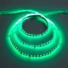 Светодиодная лента 12В, SMD3528, 5 м, IP33, 120 LED, 9.6 Вт/м, 6-7 Лм/1 LED, DC, ЗЕЛЁНЫЙ