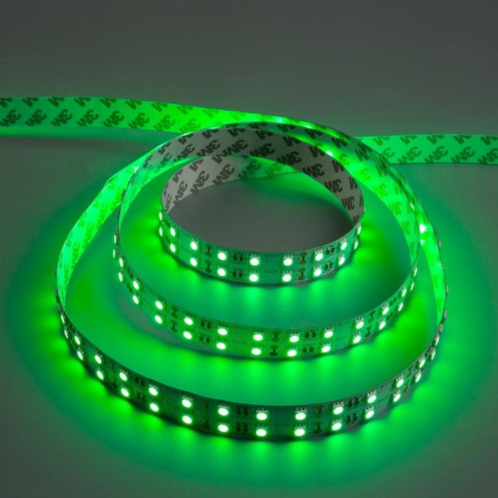 Светодиодная лента 12В, SMD5050, 5 м, IP33, 120 LED, 28.8 Вт/м, 10-12 Лм/1 LED, DC, ЗЕЛЁНЫЙ