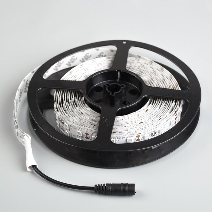 Светодиодная лента 12В, SMD5050, 5 м, IP33, 120 LED, 28.8 Вт/м, 10-12 Лм/1 LED, DC, СИНИЙ