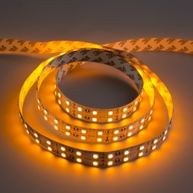 Светодиодная лента 12В, SMD5050, 5 м, IP33, 120 LED, 28.8 Вт/м, 10-12 Лм/1 LED, DC, ЖЁЛТЫЙ