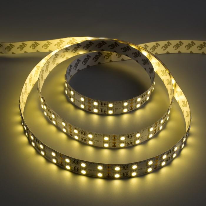 Светодиодная лента 12В SMD5050, 5 м, IP33, 120LED, 28.8Вт/м, 10-12 Лм/1 LED, DC, ТЁПЛЫЙ БЕЛЫЙ
