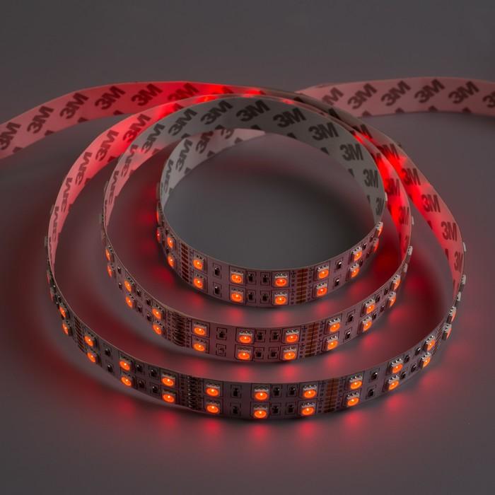 Светодиодная лента 12В, SMD5050, 5 м, IP33, 120 LED, 28.8 Вт/м, 10-12 Лм/1 LED, МУЛЬТИ (RGB)