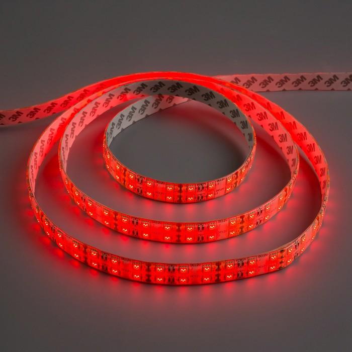 Светодиодная лента 12В, SMD5050, 5 м, IP65, 120 LED, 28.8 Вт/м, 10-12 Лм/1 LED, DC, КРАСНЫЙ