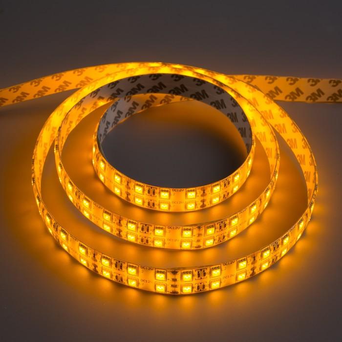 Светодиодная лента 12В, SMD5050, 5 м, IP65, 120 LED, 28.8 Вт/м, 10-12 Лм/1 LED, DC, ЖЁЛТЫЙ