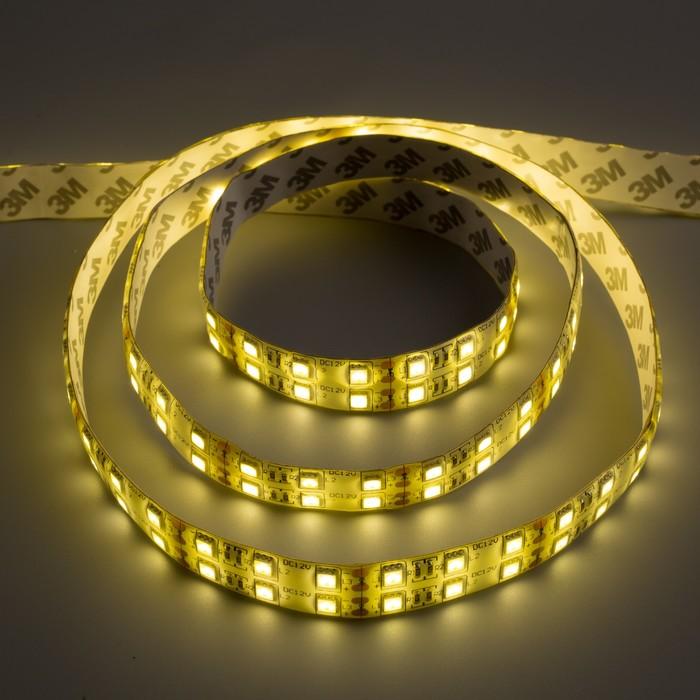 Светодиодная лента 12В, SMD5050, 5м, IP65, 120LED, 28.8Вт/м, 10-12 Лм/1 LED, DC, ТЁПЛЫЙ БЕЛЫЙ