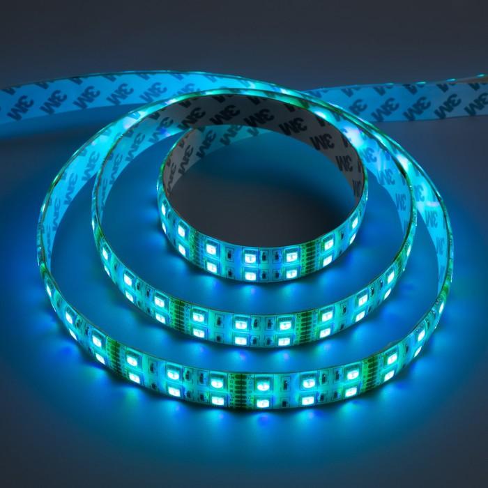 Светодиодная лента 12В, SMD5050, 5 м, IP65, 120 LED, 28.8 Вт/м, 10-12 Лм/1 LED, МУЛЬТИ (RGB)