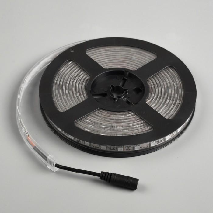 Светодиодная лента 12В, SMD5050, 5 м, IP68, 60 LED, 14.4 Вт/м, 10-12 Лм/1 LED, DC, ЗЕЛЁНЫЙ