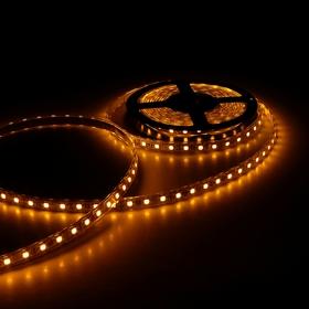 Светодиодная лента 12В, SMD5050, 5 м, IP68, 60 LED, 14.4 Вт/м, 10-12 Лм/1 LED, DC, ЖЁЛТЫЙ