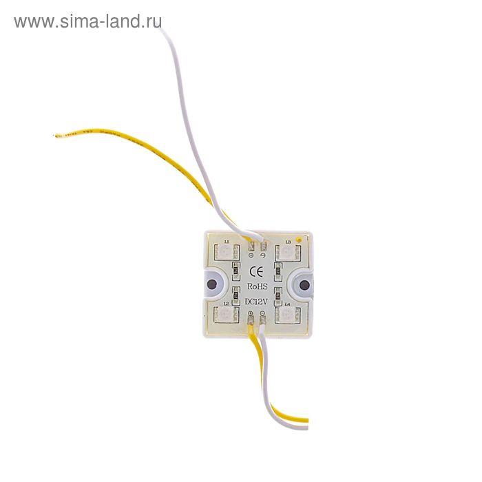 Светодиодный модуль SMD5050, 4 LED, пластик, 15-18 Lm/1LED, 1W/модуль, IP65, ЖЕЛТЫЙ