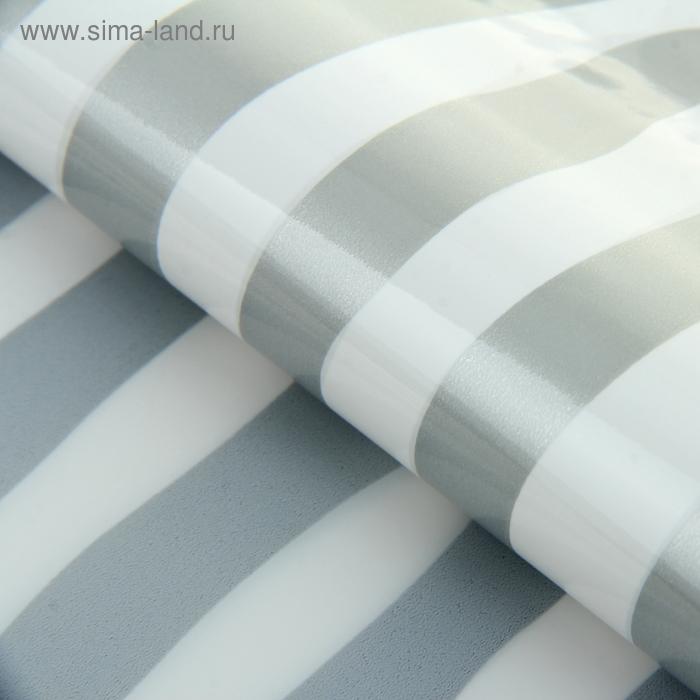 """Пленка """"Полоска"""", цвет бело-серебряный"""
