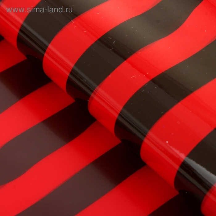 """Пленка """"Полоска"""", цвет черно-красный"""