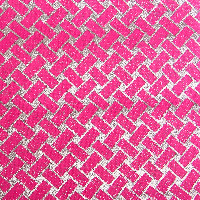 """Флизелин """"Плетение"""", розовый, 0,48 х 4,5 м"""