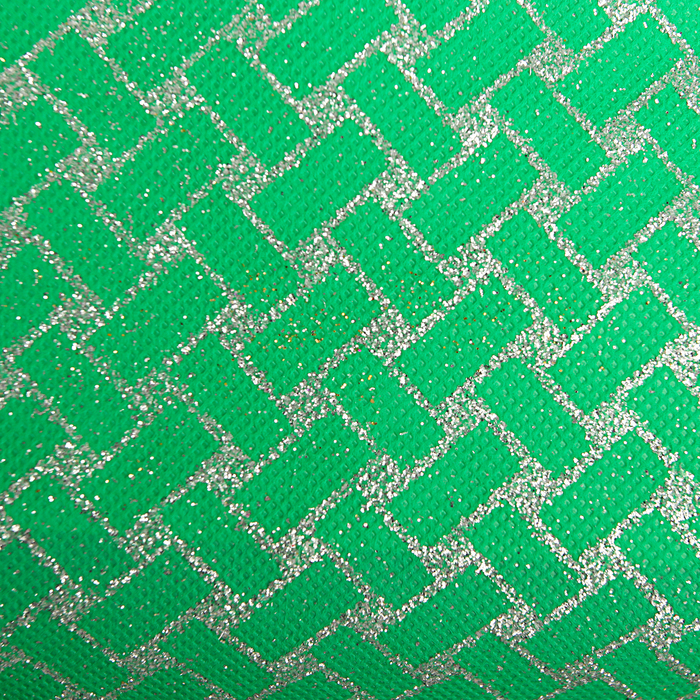 """Флизелин """"Плетение"""", зеленый, 0,48 х 4,5 м"""