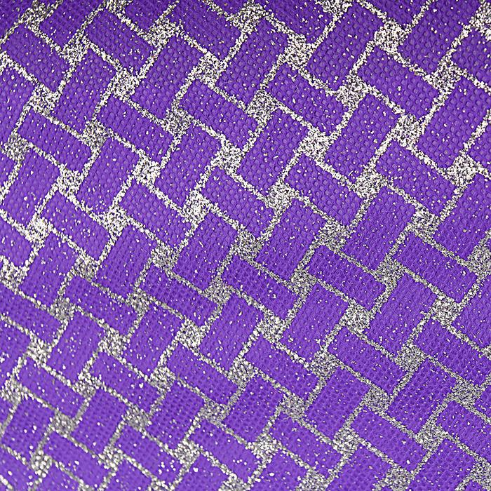 """Флизелин """"Плетение"""", фиолетовый, 0,48 х 4,5 м"""