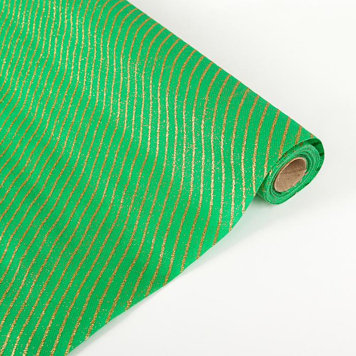 "Флизелин ""Полоска"", зелёный 0,48 х 4,5 м"