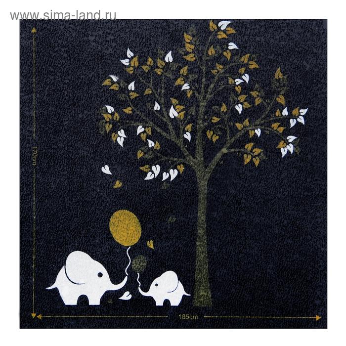 """Наклейка интерьерная плоская """"Слоники у дерева"""" набор из 2 штук"""