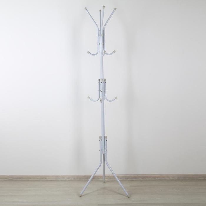 Вешалка напольная «Корона», 48×48×170 см, цвет белый